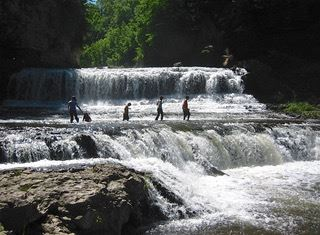 Falls at Willow River State Park